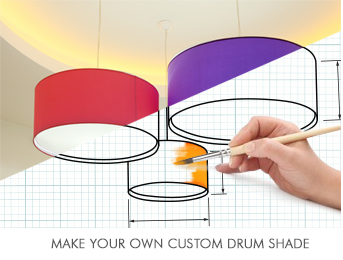 extra large drum lamp shades